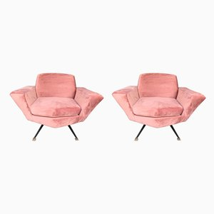 Italian Model M538 Lounge Chairs by Studio APA for Lenzi, 1960s, Set of 2