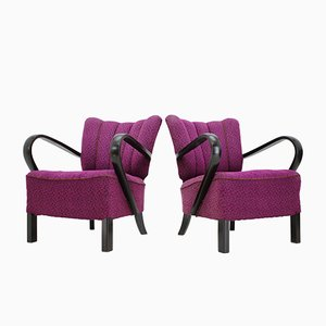 Armchairs by Jindřich Halabala, 1940s, Set of 2
