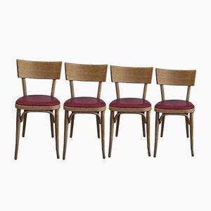 Esszimmerstühle von Joamin Baumann, 1950er, 4er Set