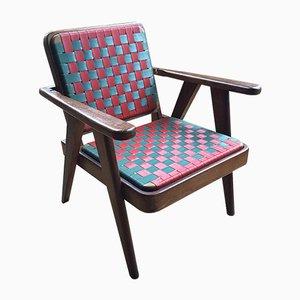 Wooden Armchair, 1950s