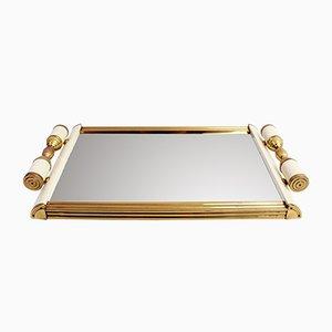 Bandeja Art Déco con espejo, años 30