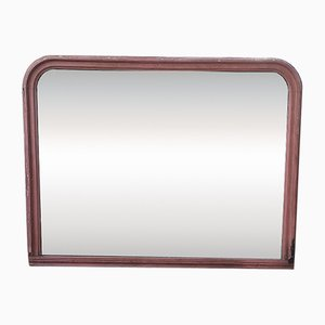 Large Antique Wood Mirror