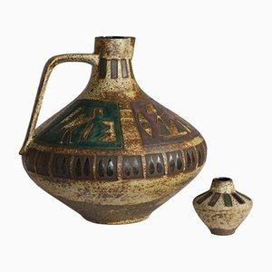 Vasi Amon Mid-Century di Hans Welling per Ceramano, anni '60, set di 2