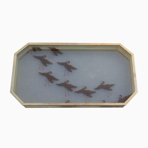 Lucite and Brass Tray, 1970s