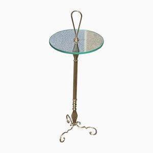 Table d'Appoint en Laiton, Italie, 1950s