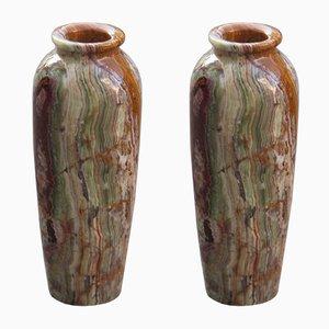 Vasen aus Onyx, 1950er, 2er Set