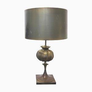 Tischlampe aus Bronze von Maison Charles, 1970er