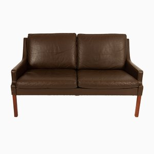 Danish Brown Leather Sofa by Georg Thams for Vejen Polstermøbelfabrik, 1970s