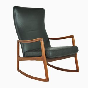 Model FD160 Rocking Chair by Ole Wanscher for France & Søn / France & Daverkosen, 1950s