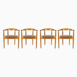 Dänische Armlehnstühle aus Eiche von Bondo Gravesen, 1960er, 4er Set