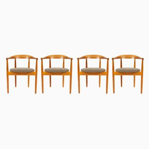 Danish Oak Armchairs by Bondo Gravesen, 1960s, Set of 4