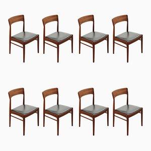 Chaises d'Appoint Modèle 26 en Palissandre par Henning Kjærnulf pour K.S Mobelfabrik, 1960s, Set de 8