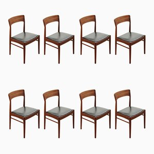 Modell 26 Beistellstühle aus Palisander von Henning Kjærnulf für K.S. Mobelfabrik, 1960er, 8er Set