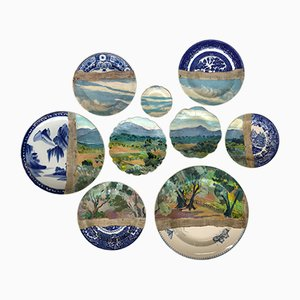 Olive Grove St Paul Plates by Studio Desimonewayland, Set of 9