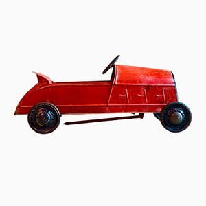 Vintage Art Deco French Children's Pedal Car, 1930s