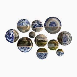 Double Landscape Plates by Studio Desimonewayland, Set of 11