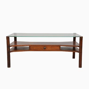 Mid-Century Rosewood Coffee Table by Gianfranco Frattini