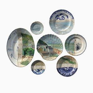 Belle Île Plates by Studio Desimonewayland, Set of 7