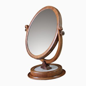Antique Marble & Mahogany Dressing Table Mirror