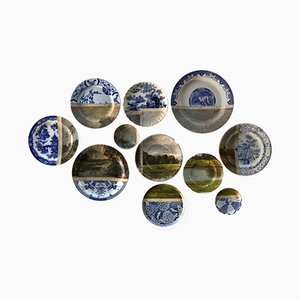 Along the Seine Plates by Studio Desimonewayland, Set of 12