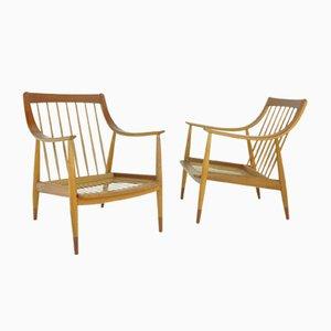 Modell FD144 Sessel von Peter Hvidt & Orla Mølgaard-Nielsen für France & Søn / France & Daverkosen, 1950er, 2er Set