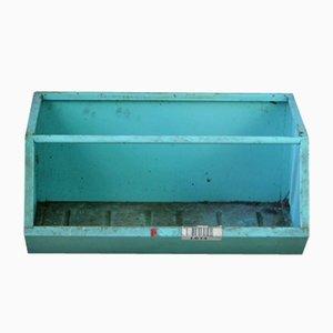 Caja de almacenamiento apilable vintage de metal, años 50