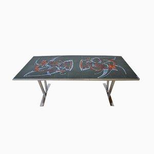 Table Basse en Chrome, 1970s