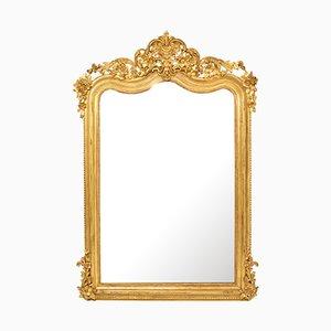 Antiker Spiegel mit vergoldetem Holzrahmen