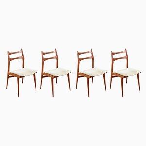 German Teak Side Chairs, 1960s, Set of 4