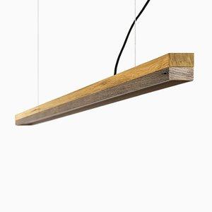 Lámpara colgante [C3o] de madera de roble y madera antigua de GANTlights