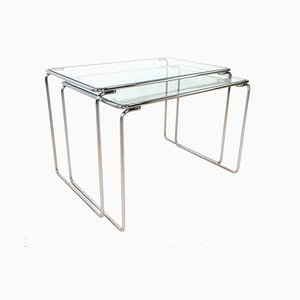 Glass Nesting Tables, 1960s