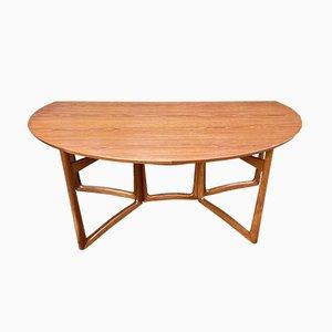 Mesa de comedor de teca y latón de Peter Hvidt para France & Søn / France & Daverkosen, años 60
