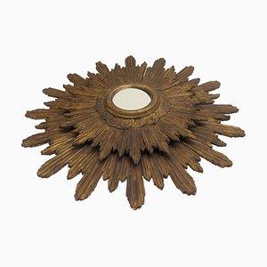Specchio antico in legno intagliato e dorato