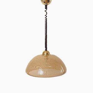 Lámpara colgante italiana era espacial, años 70