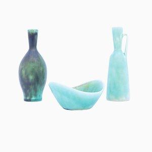 Keramikvasen von Carl-Harry Stålhane für Rörstrand, 1950er, 3er Set