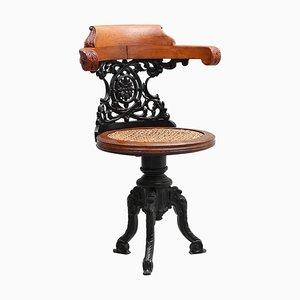 Antiker Beistellstuhl aus Eisen