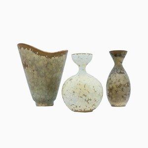 Vasen von Carl-Harry Stålhane für Rörstrand, 1950er, 3er Set