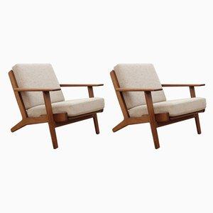 Modell GE290 Sessel von Hans J. Wegner für Getama, 1950er, 2er Set