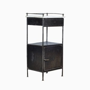 Vintage Steel Hospital Nightstand, 1920s