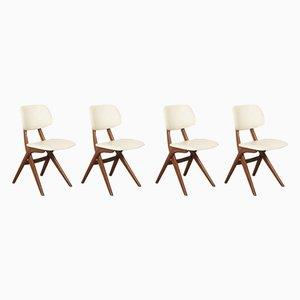 Scissor Esszimmerstühle von Louis van Teeffelen für WéBé, 1960er, 4er Set