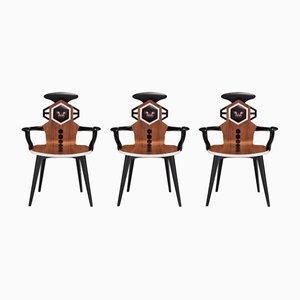 Stühle mit niedrigen Rückenlehnen von Estemporaneo, 3er Set