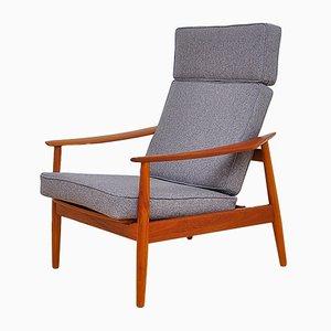 Mid-Century Modell FD-164 Sessel mit Gestell aus Teak von Arne Vodder für France & Søn / France & Daverkosen