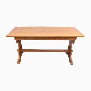 Oak Refectory Dining Table, 1940s