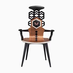 Stuhl mit hoher Rückenlehne von Estemporaneo