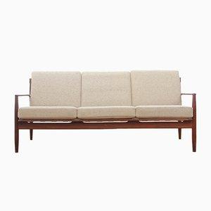 Skandinavisches Sofa mit Gestell aus Teak, 1950er