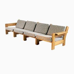 Modulare Mid-Century Sessel aus heller Eiche, 1960er, 4er Set