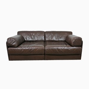 Brown Leather DS-76 Sofa from de Sede, 1970s