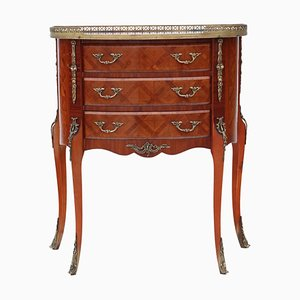 Großer antiker französischer Nachttisch mit Intarsien