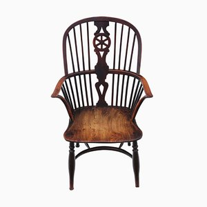 Antique Yew and Elm Windsor Dining Chair