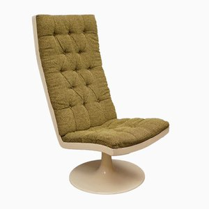 Green Velvet Lounge Chair, 1970s